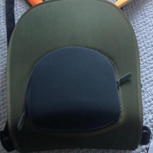 Nike new slim line neoprene khaki&orange backpack